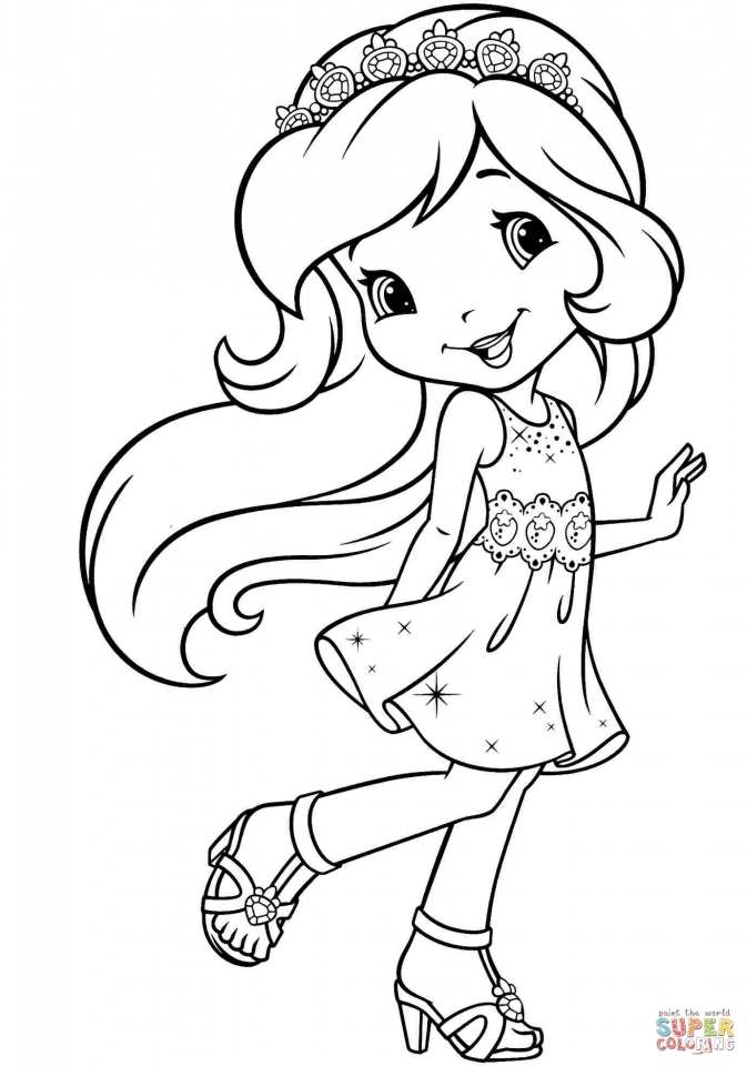 Cute Strawberry Shortcake Coloring Pages to Print   15390