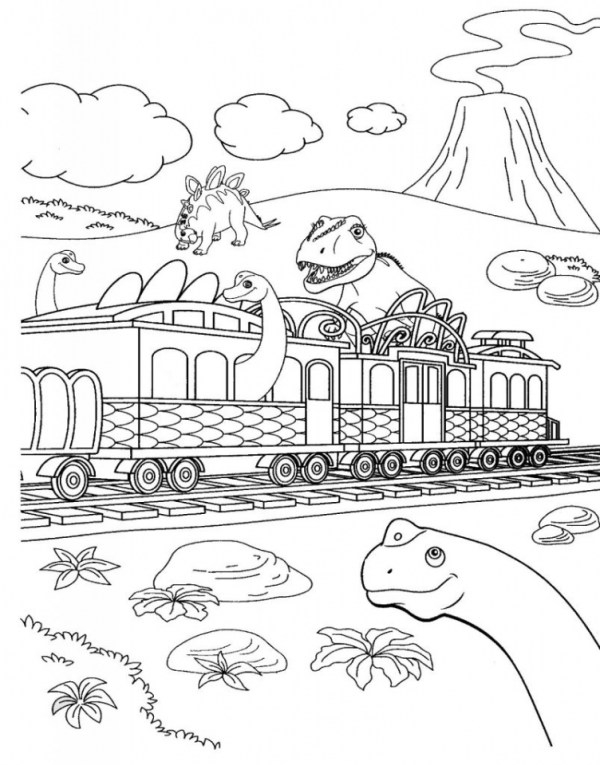 train coloring pages # 45