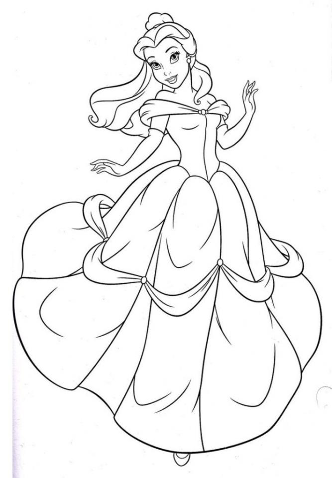 Disney Princess Belle Coloring Pages Online   73518
