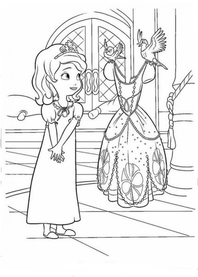 Get This Disney Sofia The First Coloring Pages Printable 67281