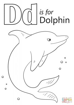 Dolphin Coloring Pages Free to Print 73614