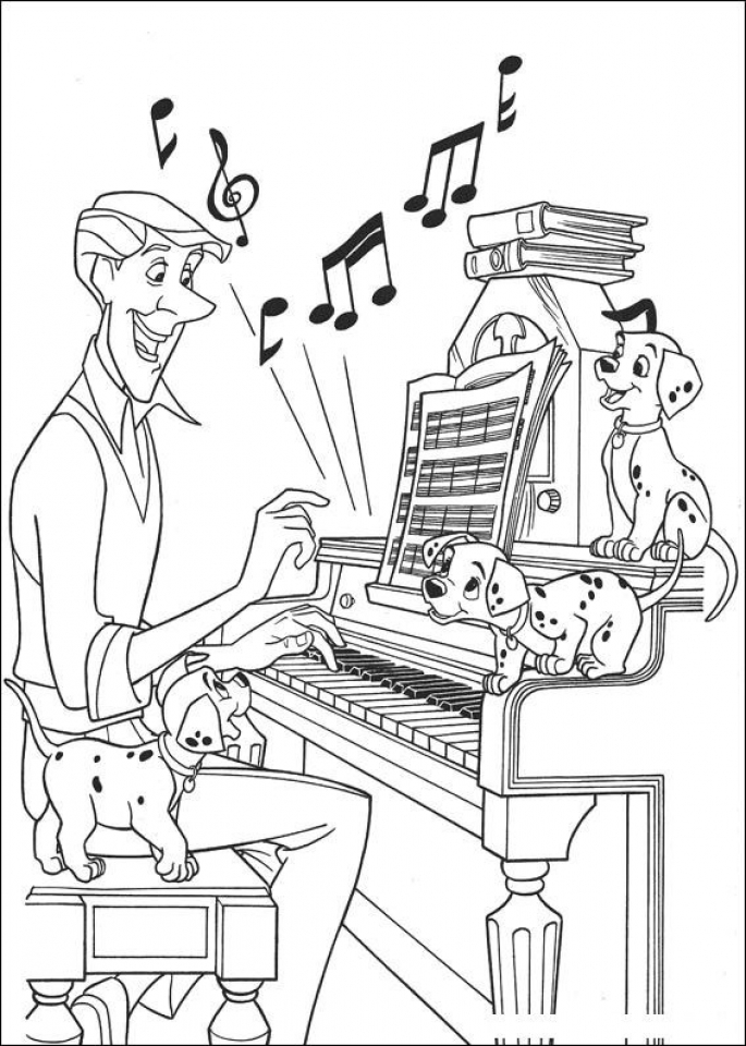 Get This Easy Preschool Printable of Music Coloring Pages