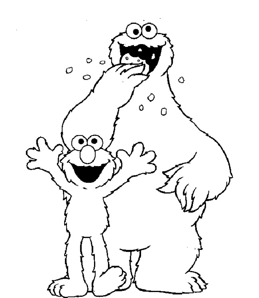 Elmo Coloring Pages Free   61732