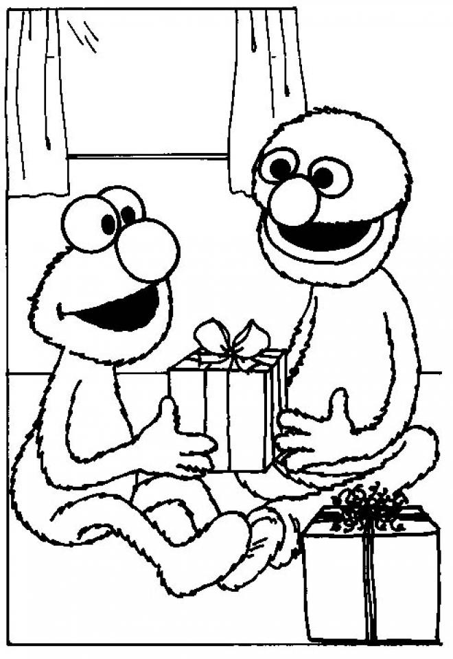 Elmo Coloring Pages Fun Kids Printable   55721