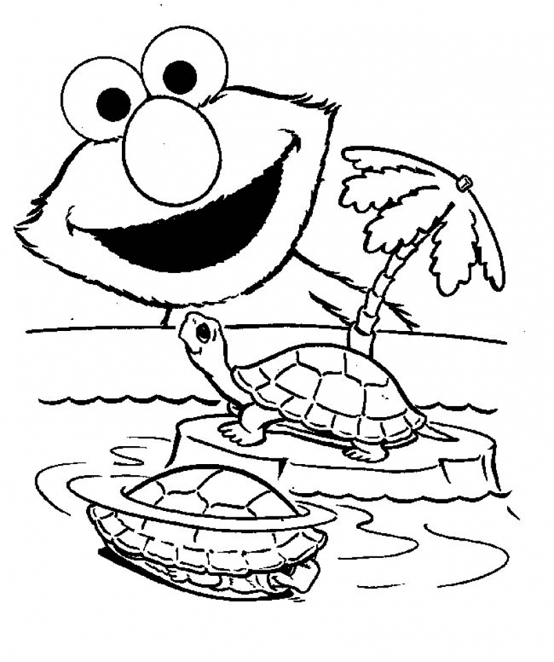 Elmo Coloring Pages Printable Free   3657