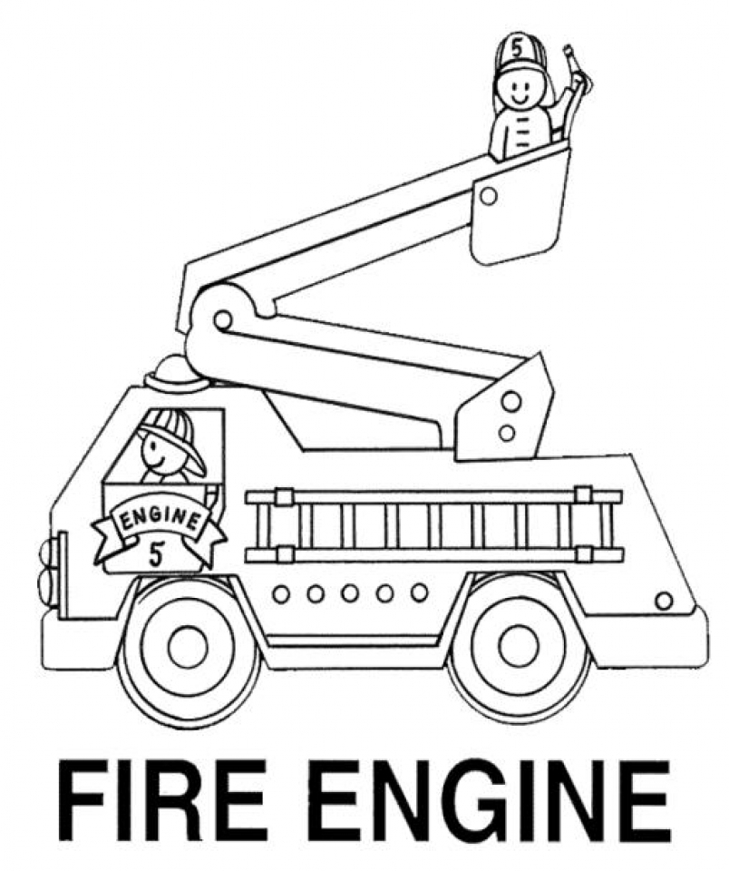 Fire Truck Coloring Pages Free to Print 40501