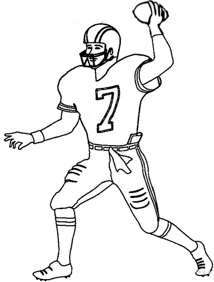 Football Player Coloring Pages Printable for Kids   13274