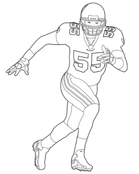 Football Player Coloring Pages Printable for Kids 35184