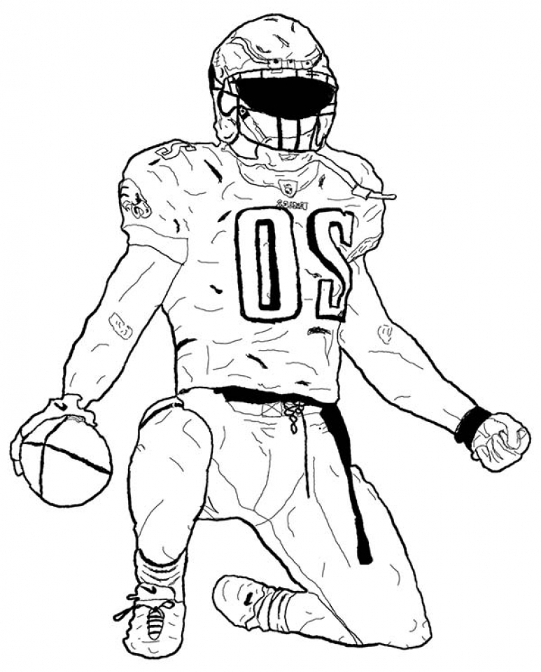 Get This Football Player Coloring Pages to Print Online