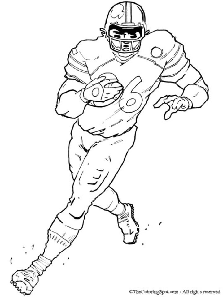 Football Player Coloring Pages to Print Online   63719