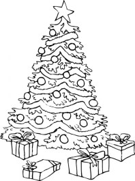 Free Christmas Tree Coloring Pages 15714