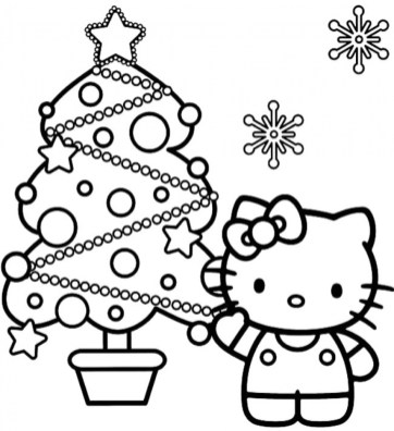 Free Christmas Tree Coloring Pages to Print 85153
