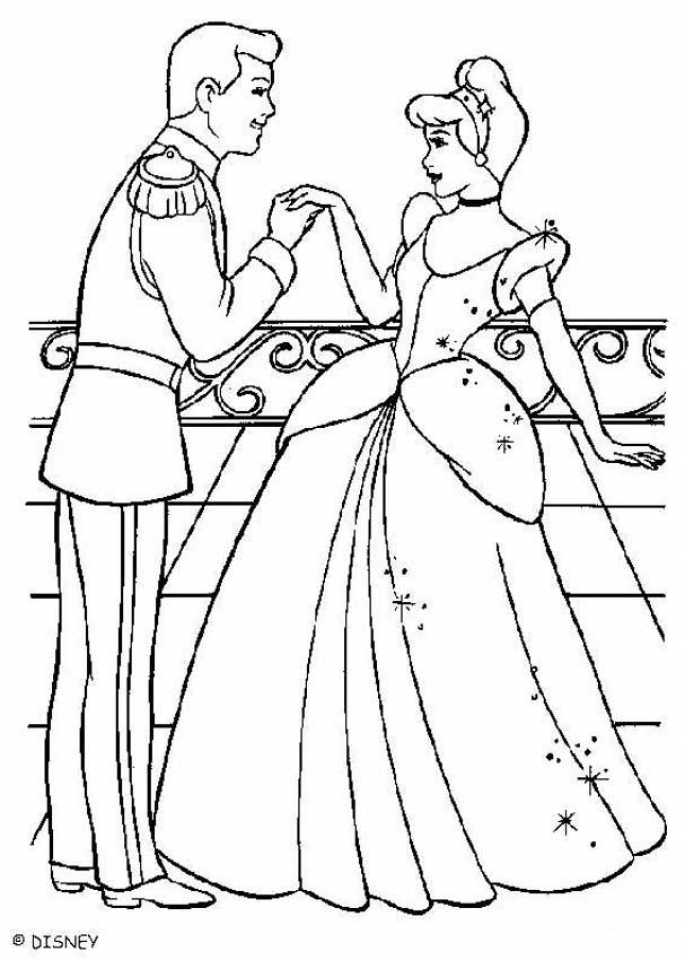 Free Cinderella Coloring Pages   64669