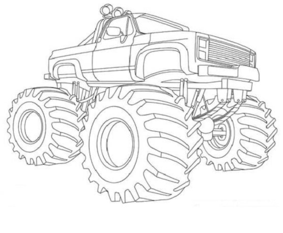 Free Monster Truck Coloring Pages to Print 67907