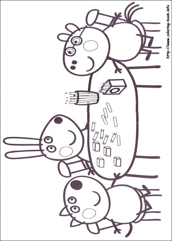 Free Peppa Pig Coloring Pages   90193