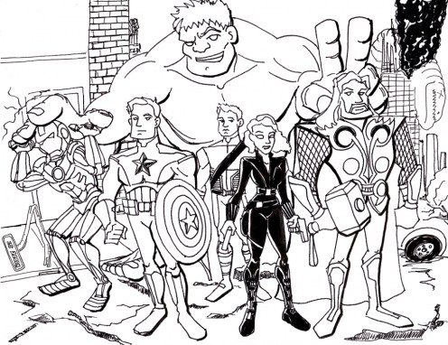 Free Printable Avengers Coloring Pages 78512