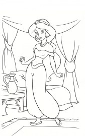 Free Printable Jasmine Coloring Pages Disney Princess 46036