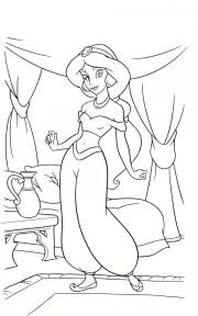 Free Printable Jasmine Coloring Pages Disney Princess 46036