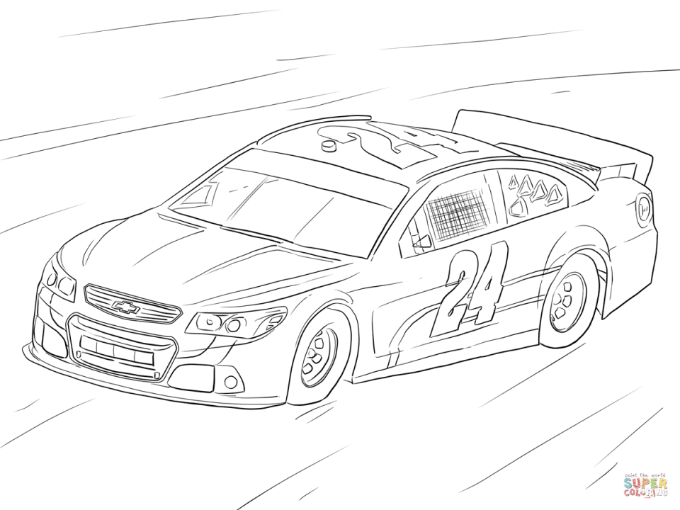 Get This Free Printable Nascar Coloring Pages for Children ...