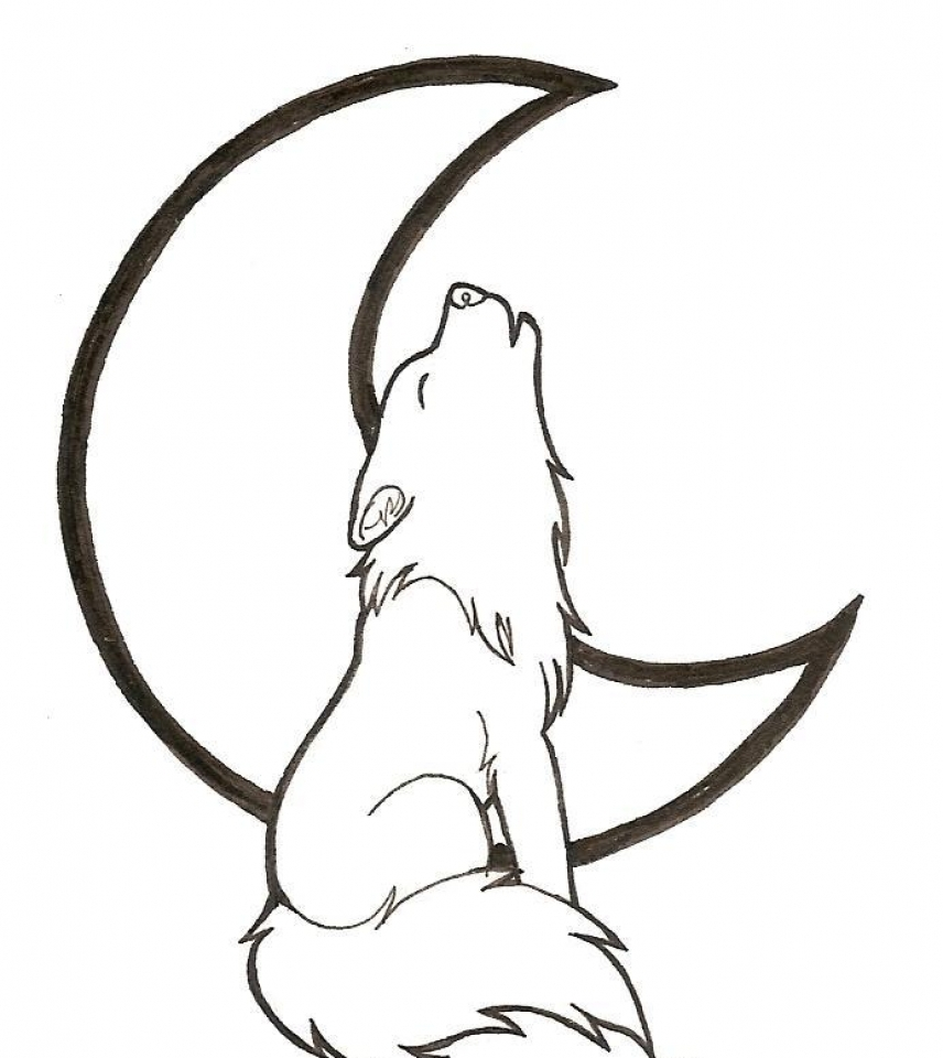 Free Printable Wolf Howling Coloring Pages   57821