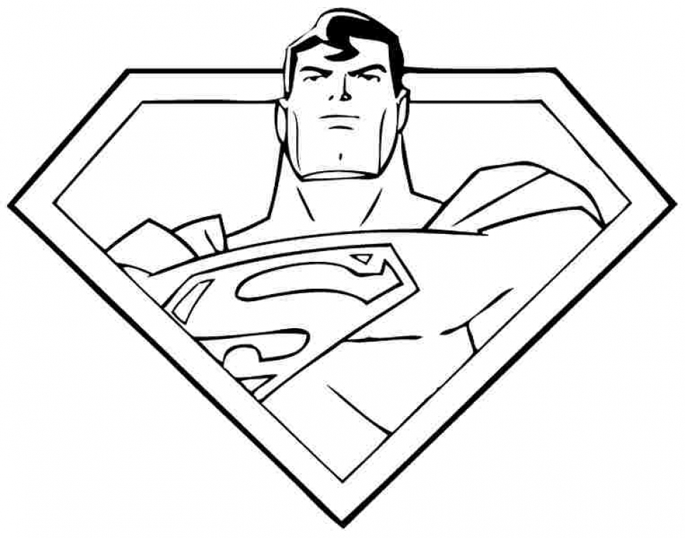 Get This Free Superman Coloring Pages To Print 92991