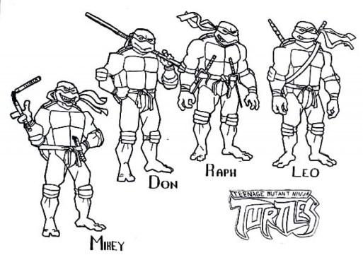 Free Teenage Mutant Ninja Turtles Coloring Pages to Print 61795