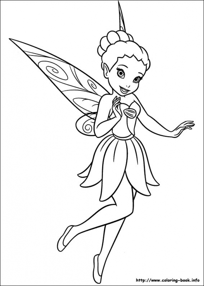 Free Printable Tinkerbell Coloring Pages For Kids | 960x685