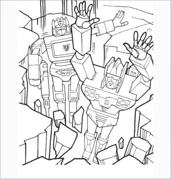 Free Transformers Coloring Pages to Print Out 05862