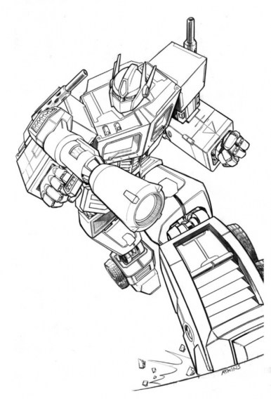 Free Transformers Printables to Color for Kids 87963