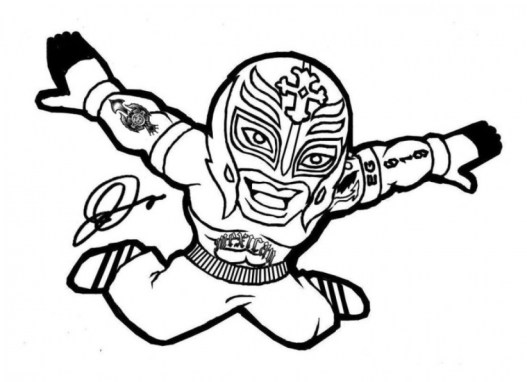 Free WWE Coloring Pages 20034