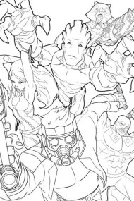 Guardians of the Galaxy Coloring Pages Printable 37549