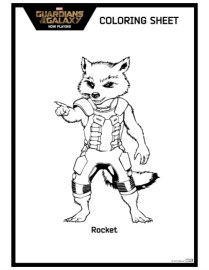 Guardians of the Galaxy Coloring Pages Printable 72611