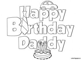 Happy Birthday Cake and Party Coloring Pages 28571