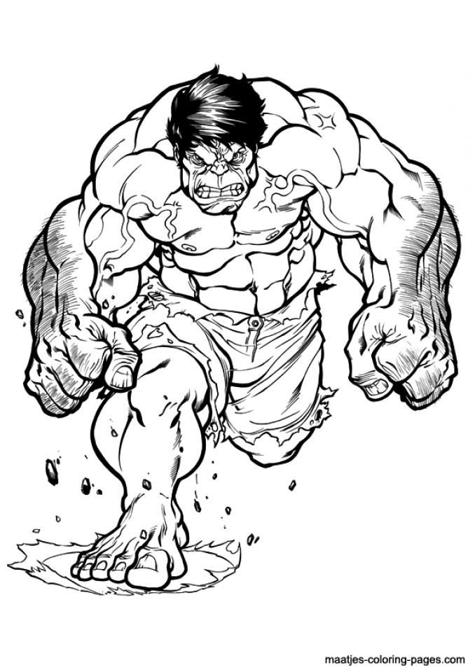 Get This Hulk Coloring Pages for Boys 56173