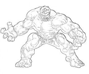 Hulk Coloring Pages Kids Printable 31850