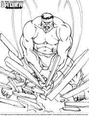 Hulk Coloring Pages Kids Printable 52174