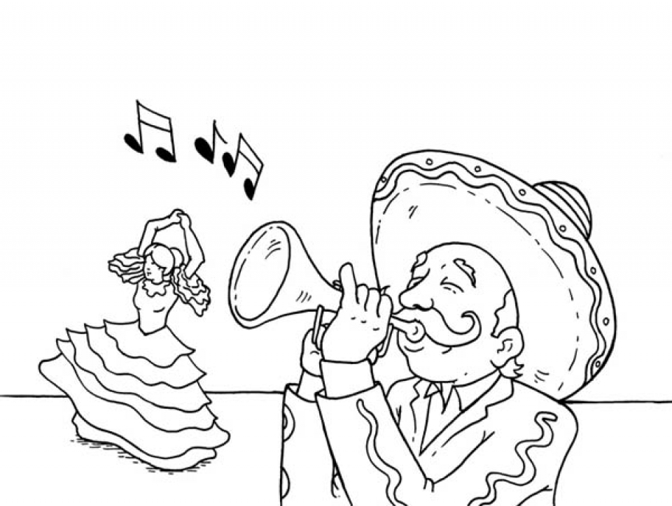 Image of Cinco de Mayo Coloring Pages to Print for Kids   05021