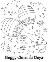 Kids' Printable Cinco de Mayo Coloring Pages 13195