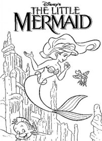 Little Mermaid Coloring Pages Classic Disney Princess Free 21740