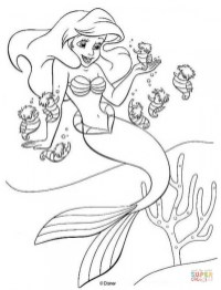 Little Mermaid Coloring Pages Disney Printable 59301
