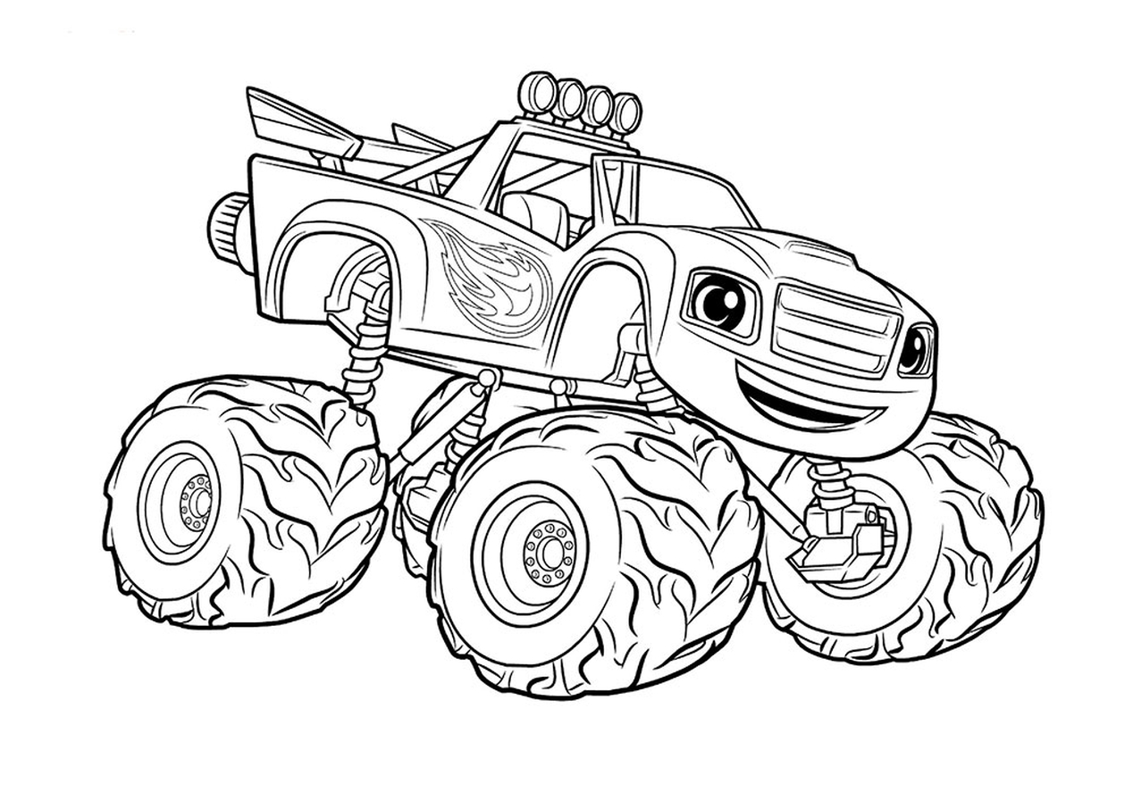 Monster Truck Printable Coloring Pages For Kids Novocom Top