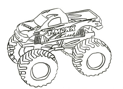 monster truck coloring page free printable for kids - 77219