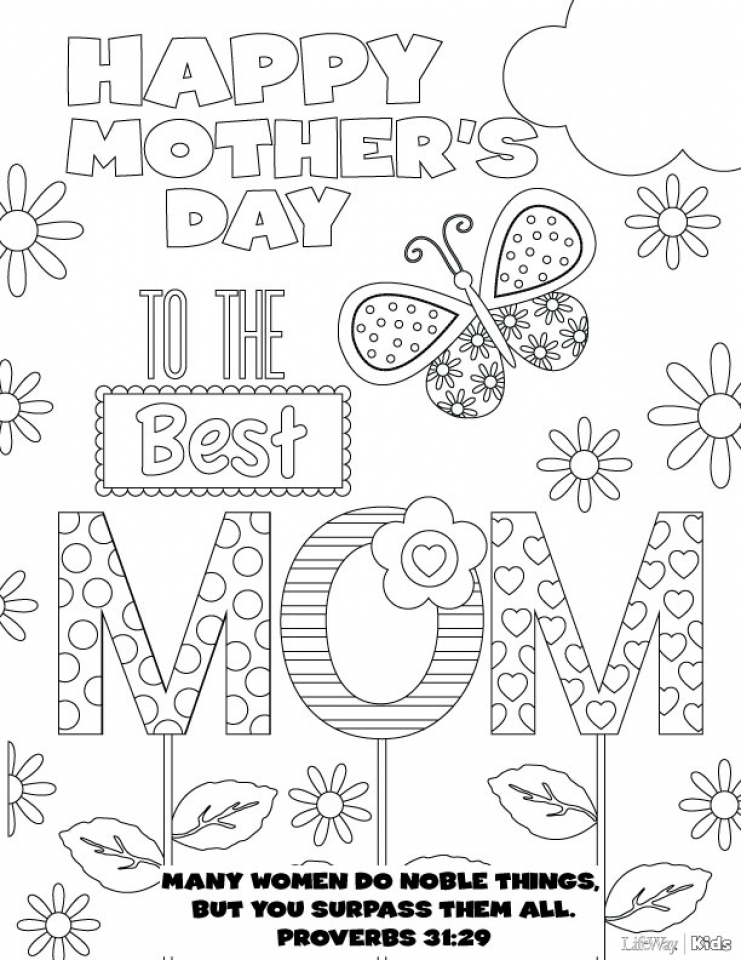 20+ Free Printable Mother's Day Coloring Pages