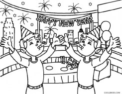New Years Coloring Pages Free to Print for Kids 18501