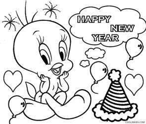 New Years Coloring Pages Free to Print for Kids 56739