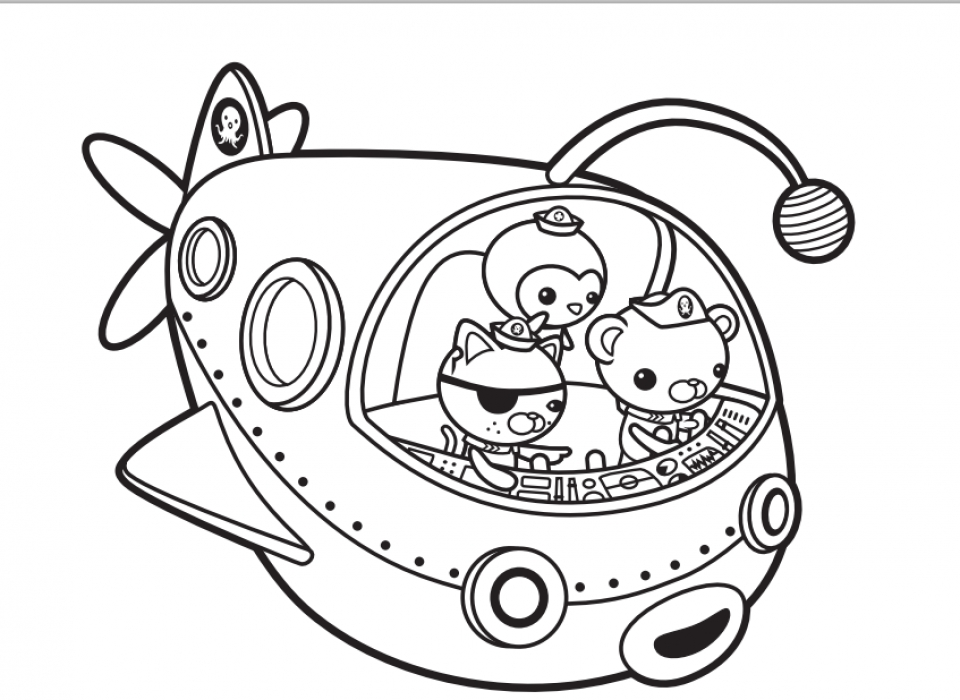20+ Free Printable Octonauts Coloring Pages