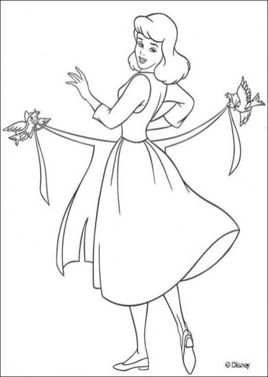 Online Cinderella Coloring Pages 83388