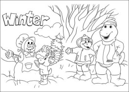 Online Coloring Pages of Barney and Friends for Kids 06904