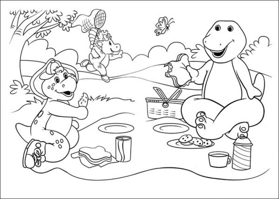 20+ Free Printable Barney And Friends Coloring Pages - EverFreeColoring.com