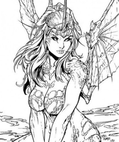 Online Fairy Coloring Pages 8754